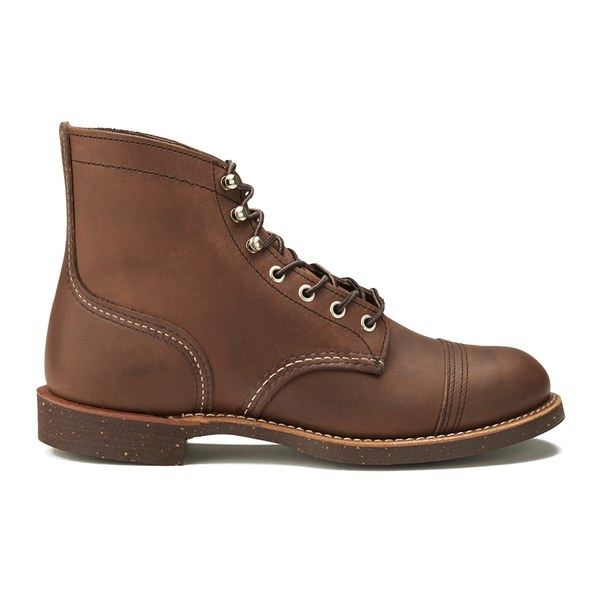 Red Wing Men's 6 Inch Iron Ranger Toe Cap Leather Lace Up Boots - Amber Harness