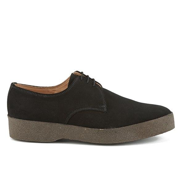 Sanders Sanders Men's Lo Top Suede Derby Shoes - Black - UK 9