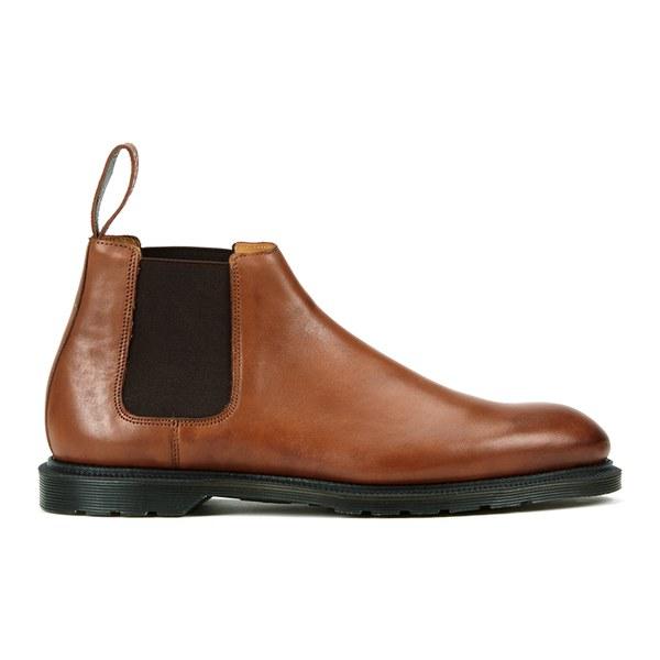 Dr. Martens Men's Henley Wilde Temperley Leather Low Chelsea Boots - Oak
