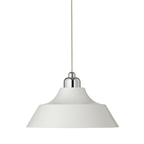 Dyberg Larsen Momentum Pendant Lamp - Clear Flex - White/Chrome Top