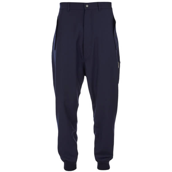 Vivienne Westwood MAN Men's Merino Flannel MA-1 Jogging Sweatpants - Navy Melange