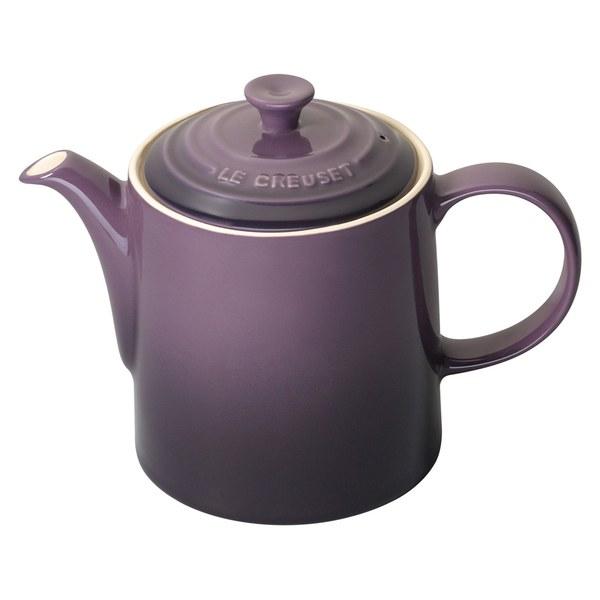 le creuset stoneware grand teapot 1 3l cassis homeware. Black Bedroom Furniture Sets. Home Design Ideas