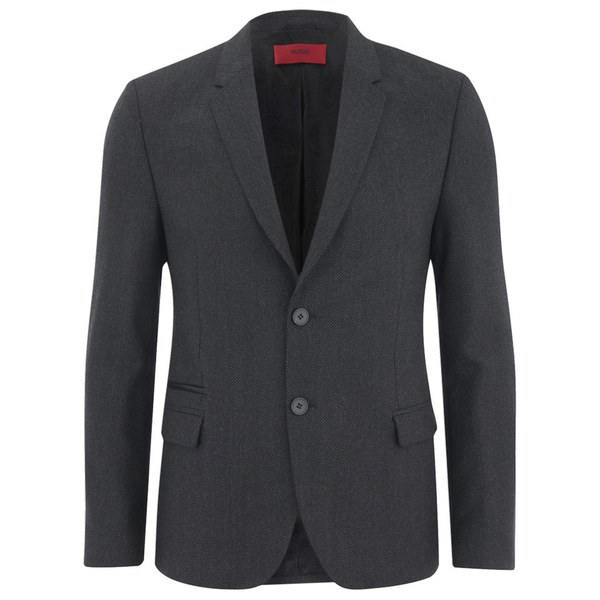 Paisley Gray Suit - Skinny Linen Jacket w/ Elbow Patch