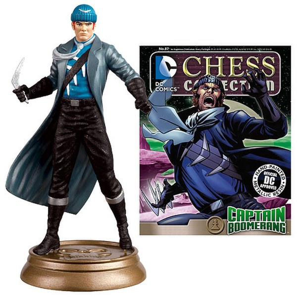 DC Comics Captain Boomerang White Pawn Chess Piece with Collector Magazine