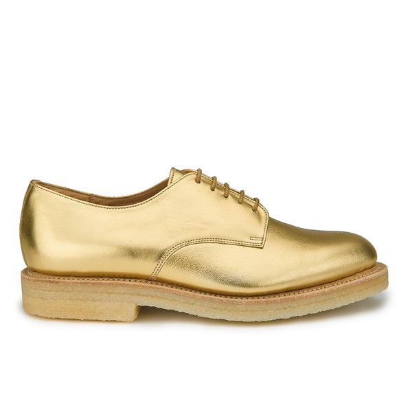 YMC YMC Women's Solovair Lace Up Leather Crepe Sole Derby Shoes - Gold Leather - UK 5