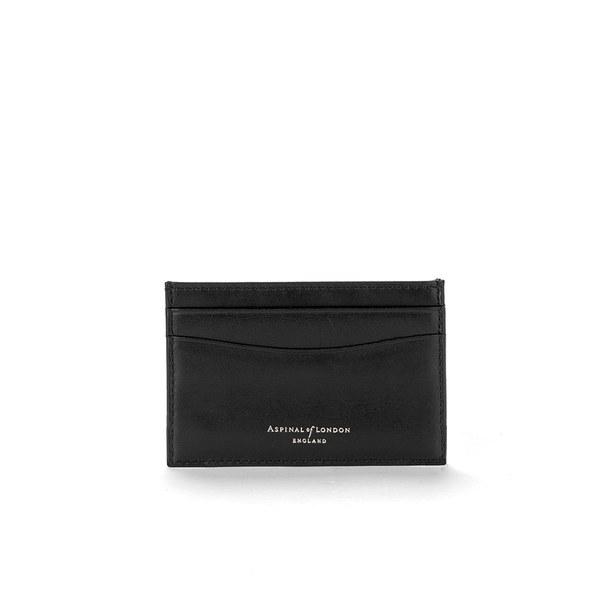 Aspinal of London Men's Slim Credit Card Case - Black Saffiano