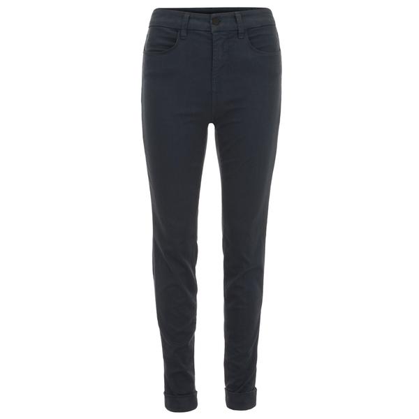 J Brand Women's Maria High Rise Sateen Cuff Jeans - Slate Blue