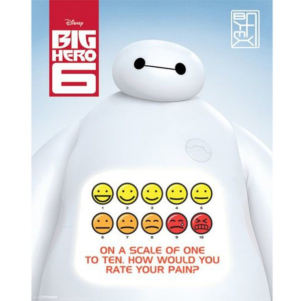 Disney Big Hero 6 Rate Your Pain - 16 x 20 Inches Mini Poster