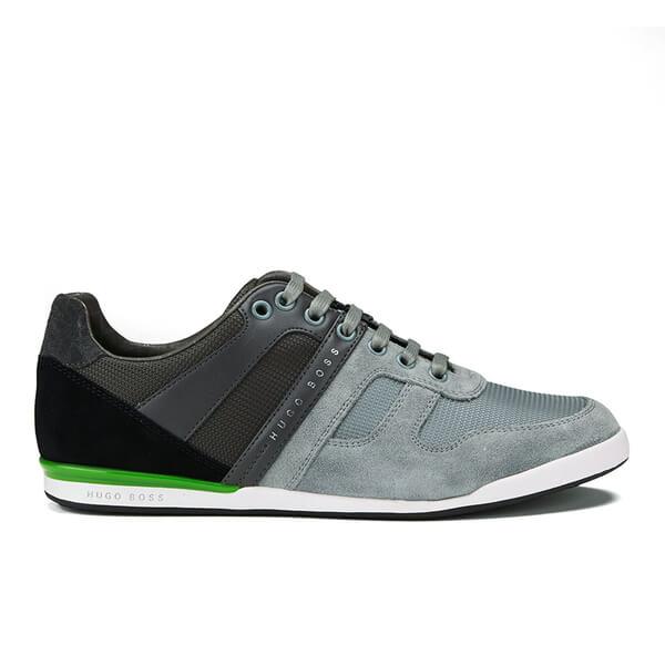 BOSS Green BOSS Green Men's Akeen Clean Leather Trainers - Light/Pastel Grey - UK 10