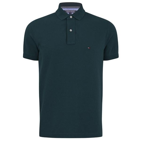 Tommy hilfiger men 39 s slim fit polo shirt dark green mens for Dark green mens polo shirt