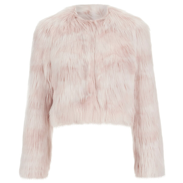 REDValentino Women's Cropped Faux Fur Jacket - Nudo