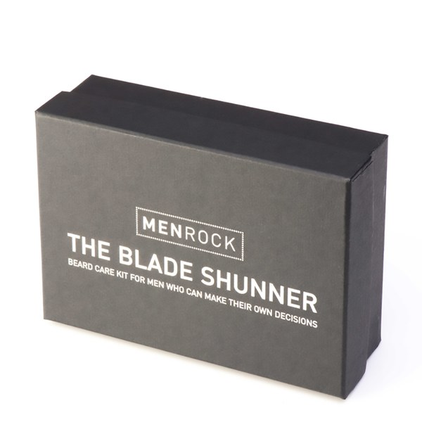 men rock blade shunner kit beard balm beard soap beard brush gift box free uk delivery. Black Bedroom Furniture Sets. Home Design Ideas