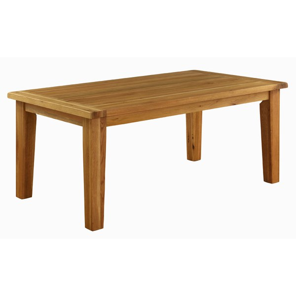 Vancouver oak vxd fixed top dining table large iwoot