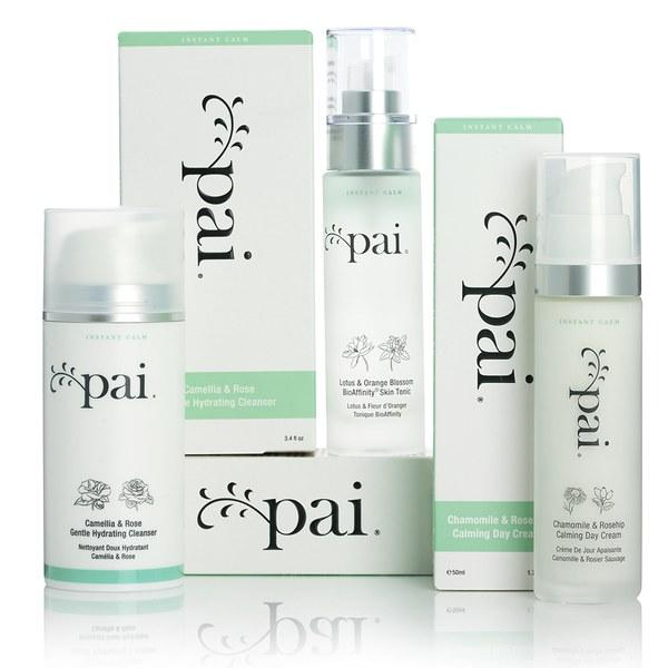 Pai Skincare Coffret Calmant- lotion hydratante, tonique et un soin nettoyant hydratant (d'une valeur de 125,56€)