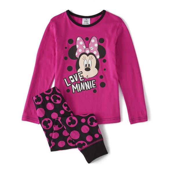 Disney Minnie Mouse Girl's Long Sleeve Pyjamas - Pink