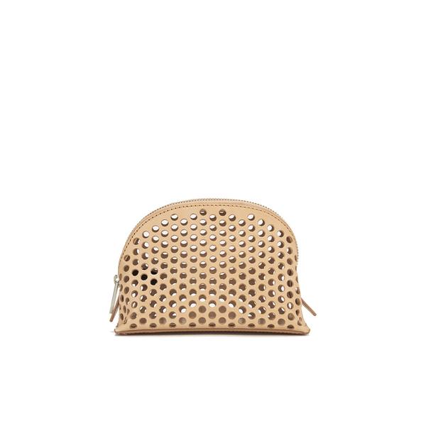Loeffler Randall Women's Small Perforated Cosmetic Bag - Nude