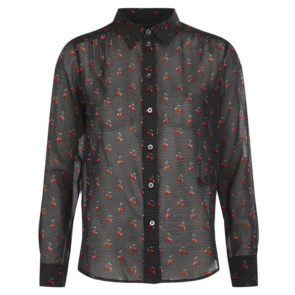 Marc by Marc Jacobs Women's Cherry Pindot Voile Shirt - Black