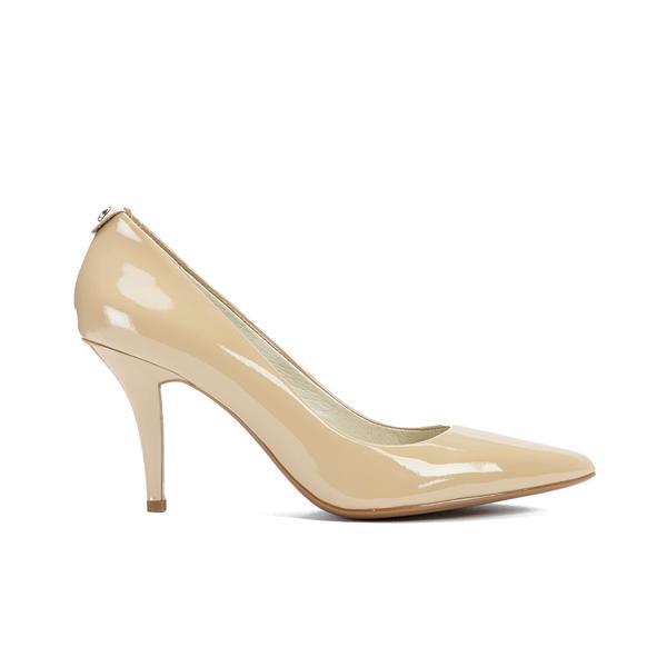 MICHAEL MICHAEL KORS Women's MK-Flex Mid Pump Patent Court Shoes - Nude