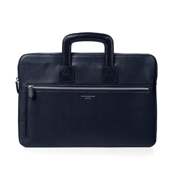 Aspinal of London Men's Connaught Document Case - Navy