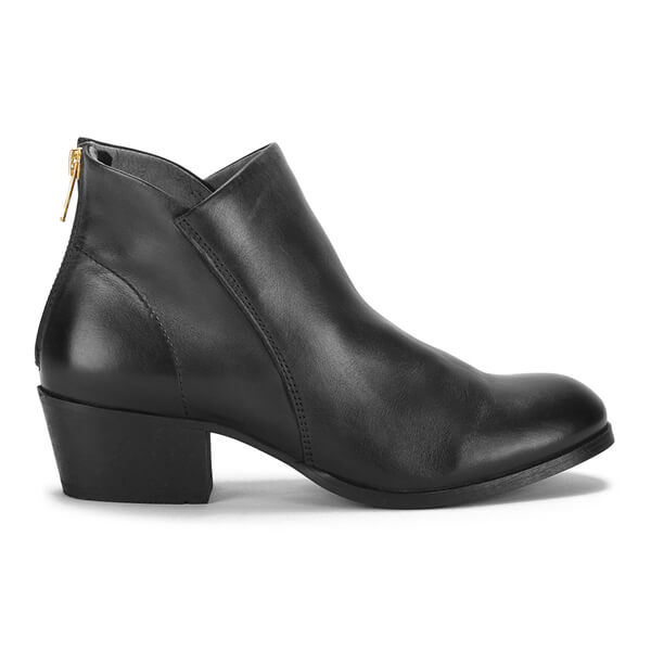 H Shoes by Hudson Women's Apisi Leather Ankle Boots - Black