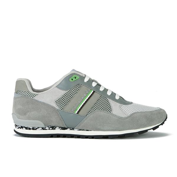 BOSS Green BOSS Green Men's Runcool Camo Suede/Mesh Trainers - Light Grey - UK 9