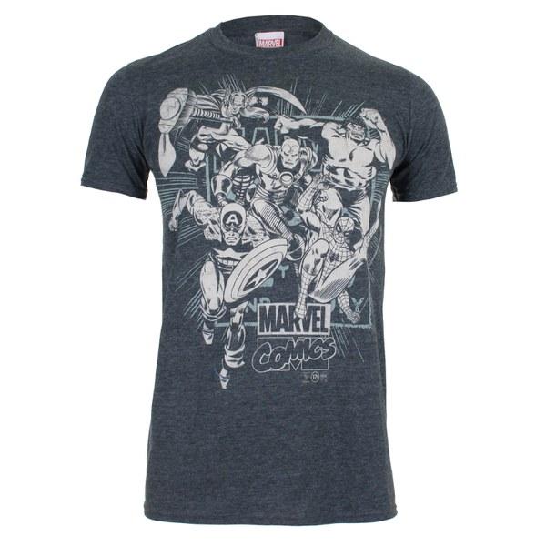 Marvel Men's Band of Heroes T-Shirt - Dark Heather