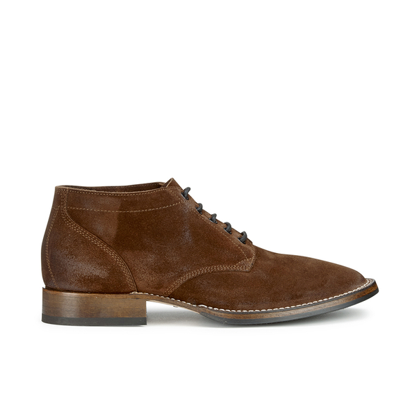 Belstaff Belstaff Men's Stockwell Suede Lace Up Boots - Oak Brown - UK 7