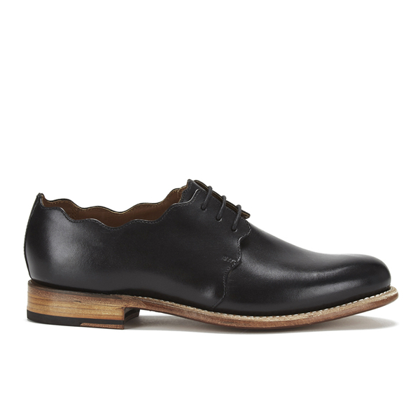 Grenson Women's Dulcie Leather Wave Top Derby Shoes - Black