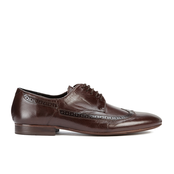 H Shoes by Hudson H Shoes by Hudson Men's Olave Leather Derby Shoes - Brown - UK 7