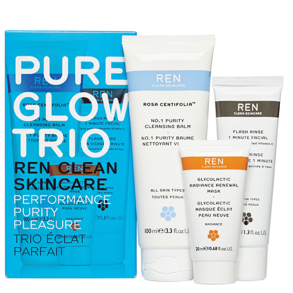 REN Pure Glow Trio Kit (Worth £50.00)