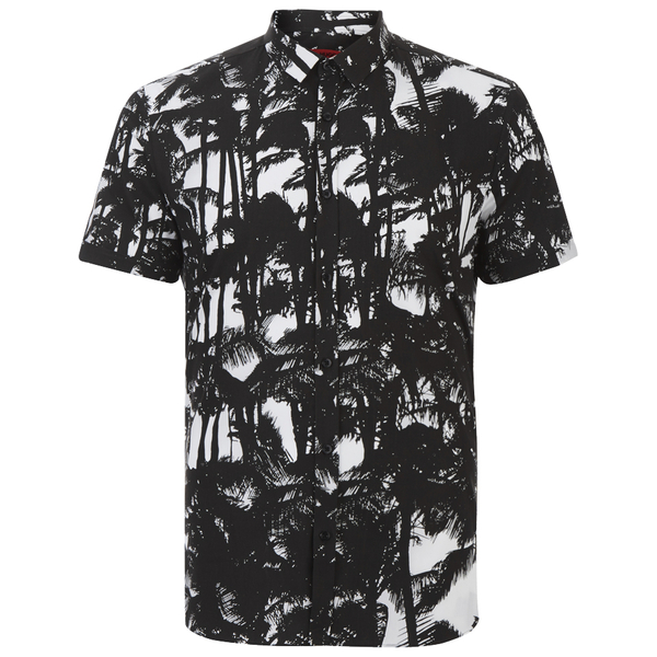 HUGO Men's Empson Printed Shirt - Black