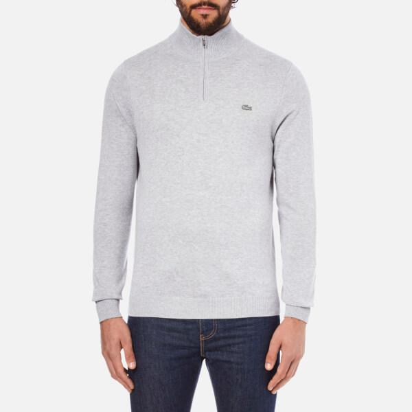 Lacoste Men's Quarter Zip Sweatshirt - Silver Chine