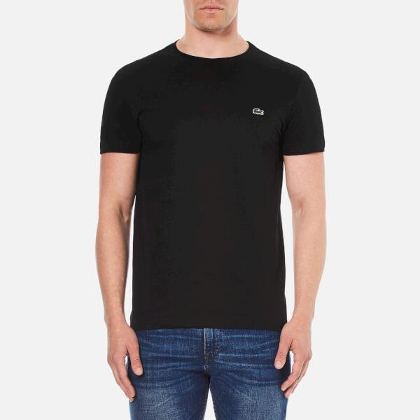 Lacoste Men's Short Sleeve Crew Neck T-Shirt - Black