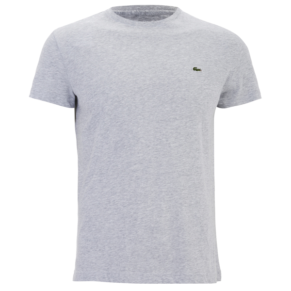 Lacoste Men 39 S Short Sleeve Crew Neck T Shirt Silver