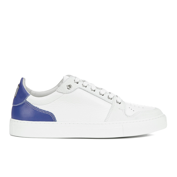AMI Men's Low Top Trainers - White/ Blue