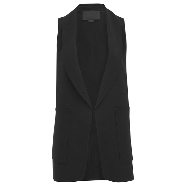 Alexander Wang Women's Shawl Collar Vest with Racer Back Armhole - Onyx