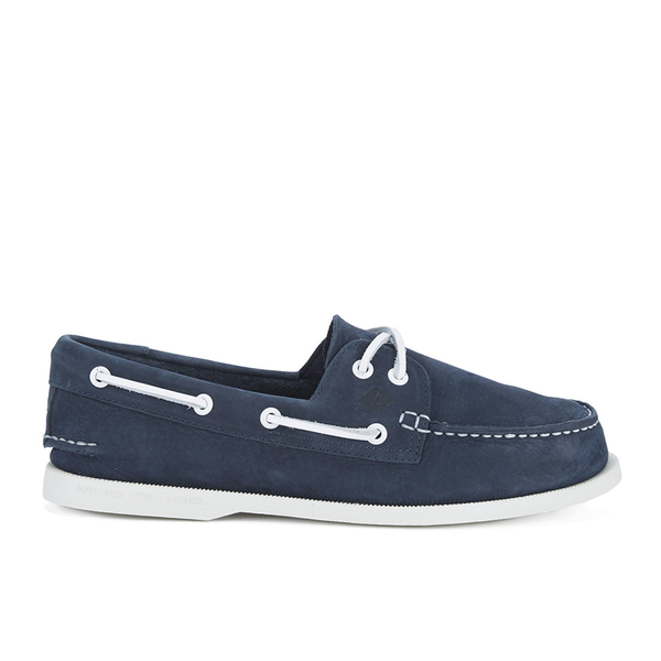 Sperry Sperry Men's A/O 2-Eye Washable Leather Boat Shoes - Navy - UK 9