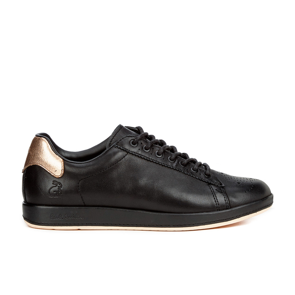 Paul Smith Shoes Paul Smith Shoes Women's Rabbit Leather Trainers - Black Mono Lux - UK 5