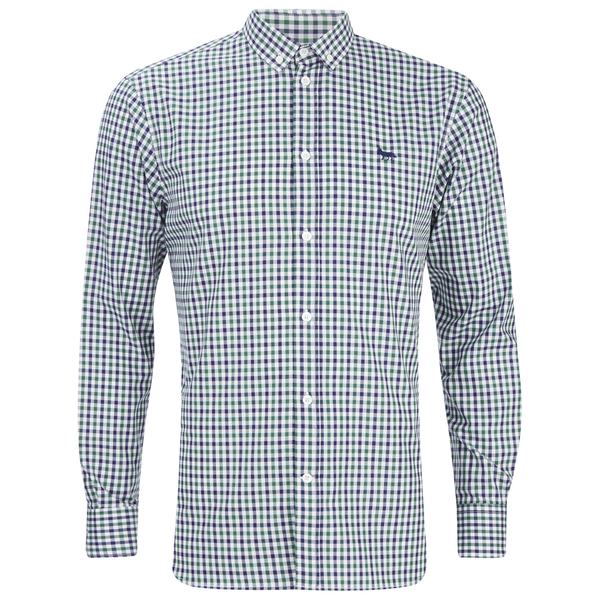 Maison Kitsuné Men's Checked Long Sleeve Shirt - Green Check