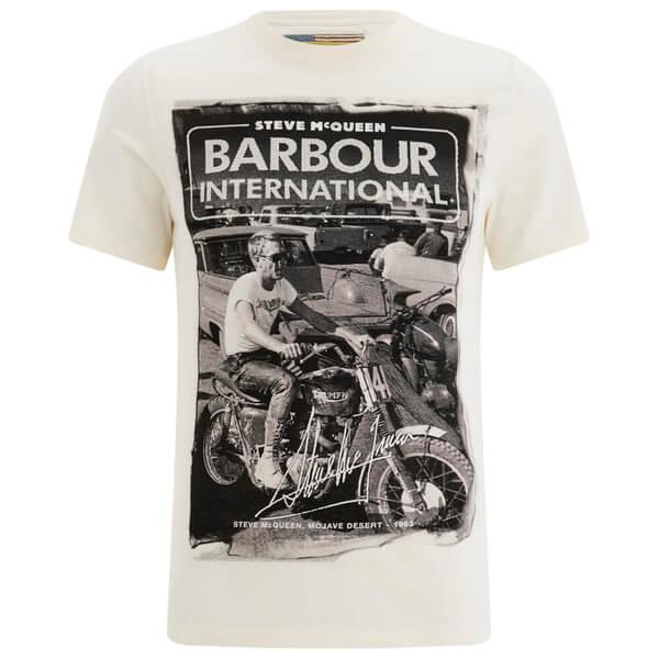 barbour x steve mcqueen men 39 s mojave t shirt neutral. Black Bedroom Furniture Sets. Home Design Ideas