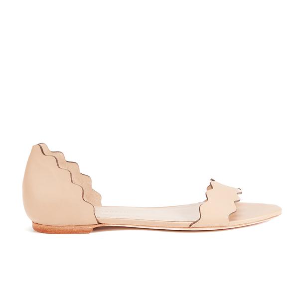 Loeffler Randall Loeffler Randall Women's Lina Scalloped Sandals - Wheat - US 10/UK 7