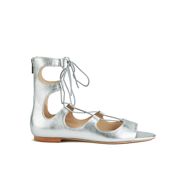 Loeffler Randall Loeffler Randall Women's Dani Front Tie Sandals - Silver - US 10/UK 7