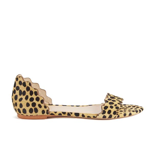 Loeffler Randall Loeffler Randall Women's Lina Scalloped Sandals - Cheetah - US 7/UK 4