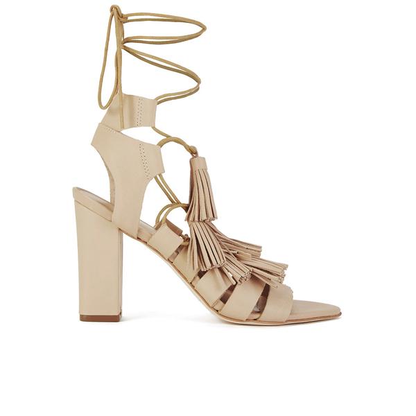 Loeffler Randall Loeffler Randall Women's Luz Tassel Block Heeled Sandals - Wheat - US 10/UK 7
