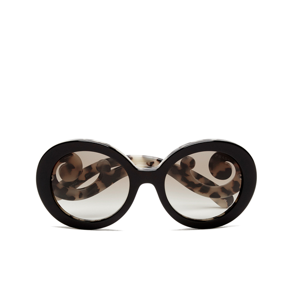 prada womens catwalk minimal baroque sunglasses top