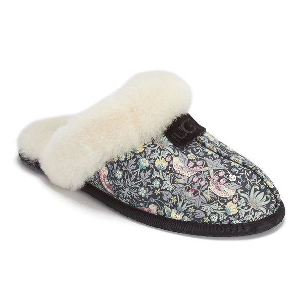 ugg women 39 s scuffette liberty sheepskin collar slippers blush floral