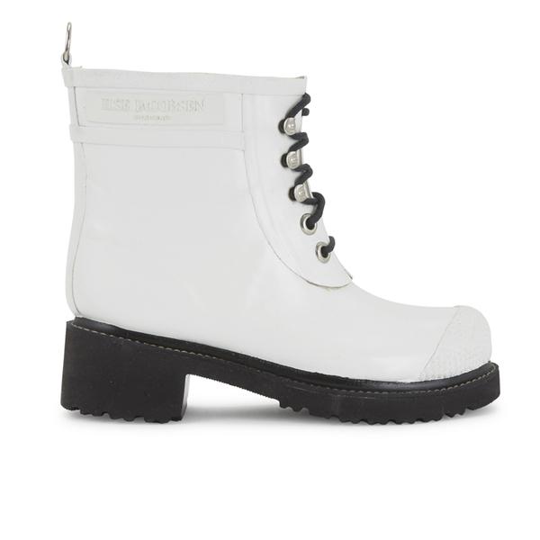 Ilse Jacobsen Ilse Jacobsen Women's Lace Up Ankle Rubber Boots - White - UK 8