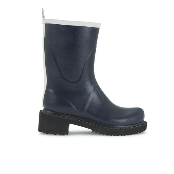 Ilse Jacobsen Ilse Jacobsen Women's Contrast Short Rubber Boots - Dark Indigo - UK 3
