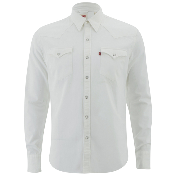 Levi 39 S Men 39 S Barstow Western Shirt Whisper White Mens