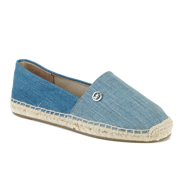 michael michael kors women 39 s kendrick slip on espadrilles washed denim free uk delivery. Black Bedroom Furniture Sets. Home Design Ideas